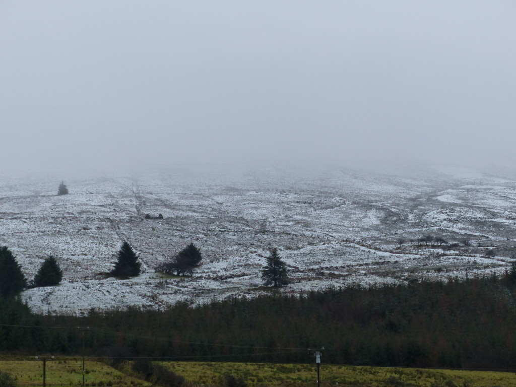 snowy hills in Ireland